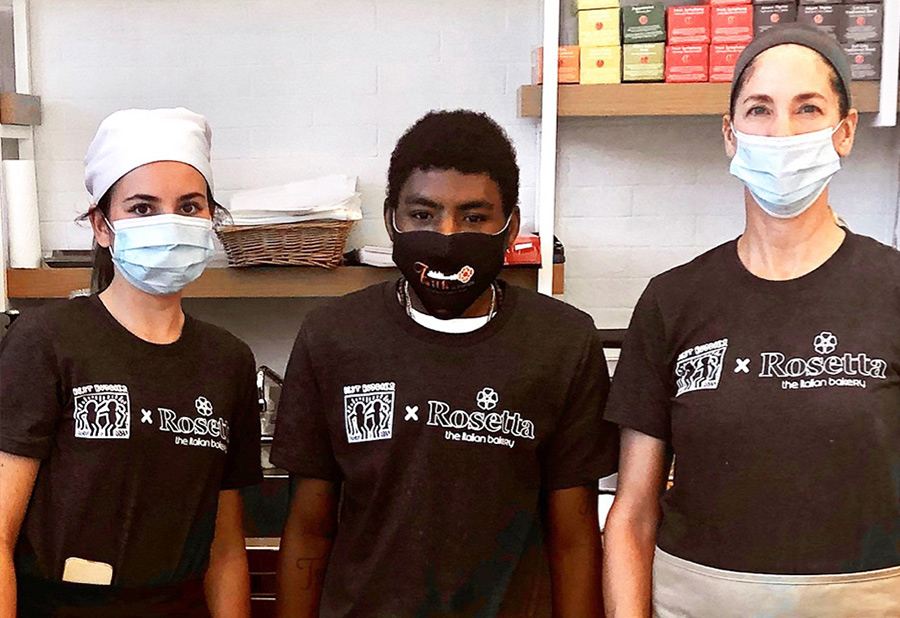 3 Best Buddies Jobs Participants working at Roseta Bakery in Miami, Florida