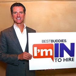 California Lt. Gov. Gavin Newsom pledges #ImInToHire.