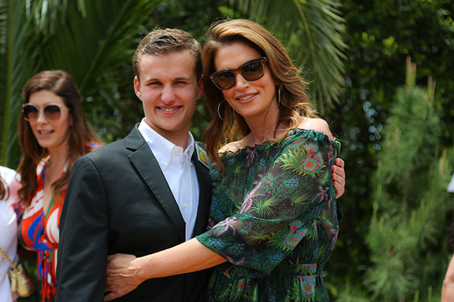 Cindy Crawford with Best Buddies Global Ambassador Jack Mayor