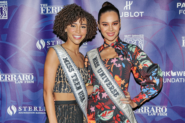 Kaleigh Garris, Miss Teen USA 2019 and Catriona Gray, Miss Universe 2018