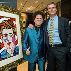 Anthony Shriver and Romero Britto celebrate Montblanc's Best Buddies partnership