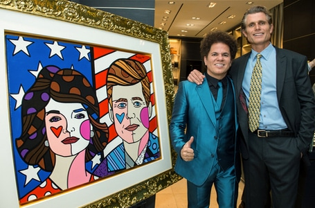 Anthony Shriver and Romero Britto celebrate Montblanc s Best Buddies  partnership 0c6f3a3dd