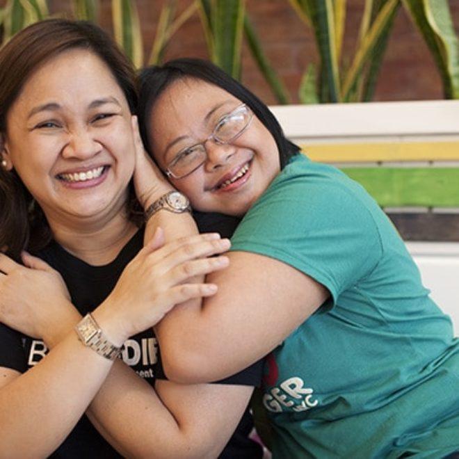 Sara Ungson and Anj Onrubia, Best Buddies Philippines