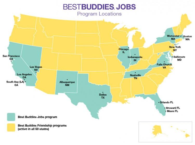 Best Buddies Jobs: Program Locations