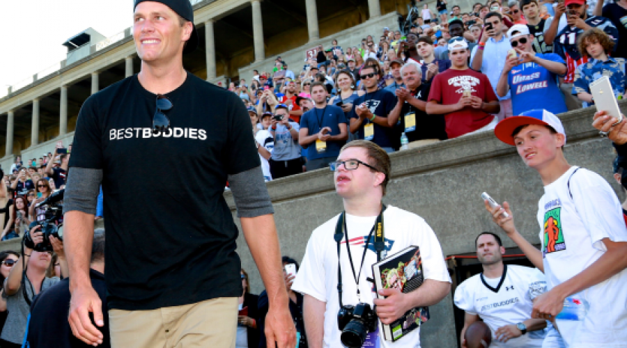 Watch Tom Brady Throw a TD Pass to a Young Teammate with Down Syndrome