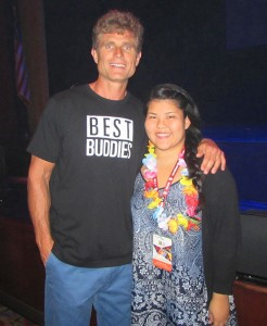 Maui HS CP Alyssa with Best Buddies International's Founder & Chairman Anthony K. Shriver after receiving the Outstanding High School Award