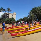 Best Buddies on Maui Paddle Canoes!