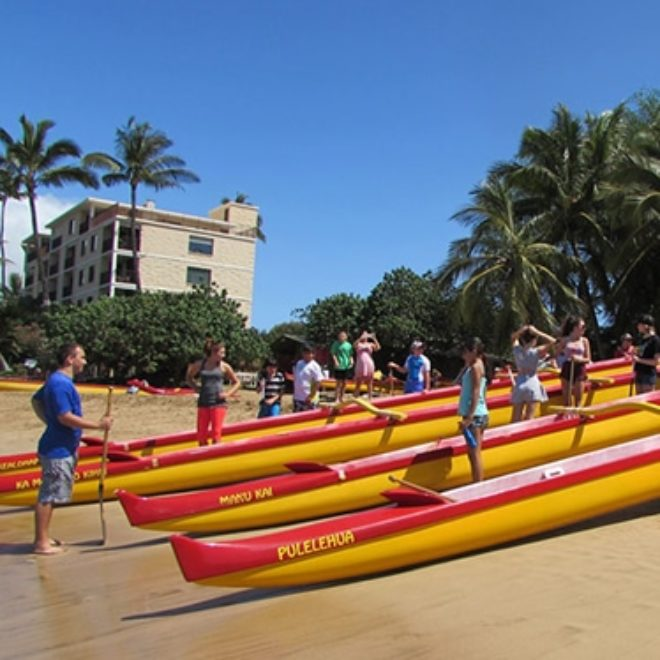 Best Buddies on Maui Paddle Canoes!