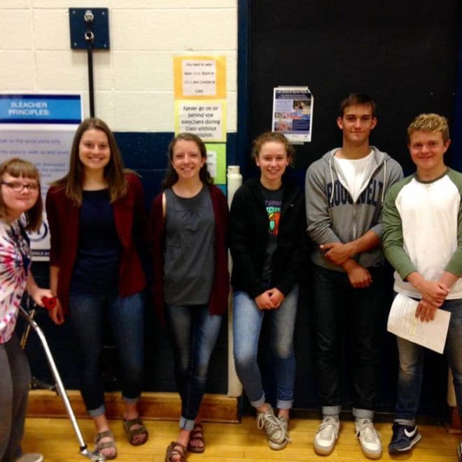 Merrill Middle School Best Buddies Organizes Respect Rally