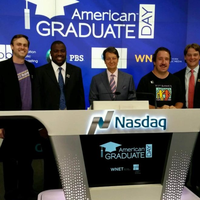Best Buddies at the 5th annual American Graduate Day on PBS