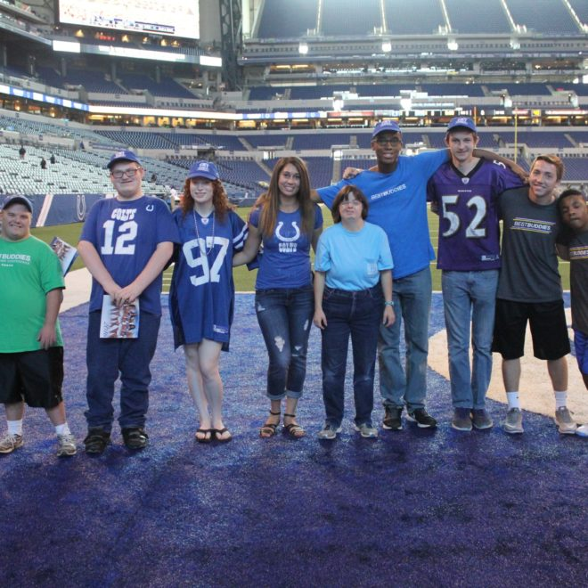 Best Buddies Attends The Colts Game