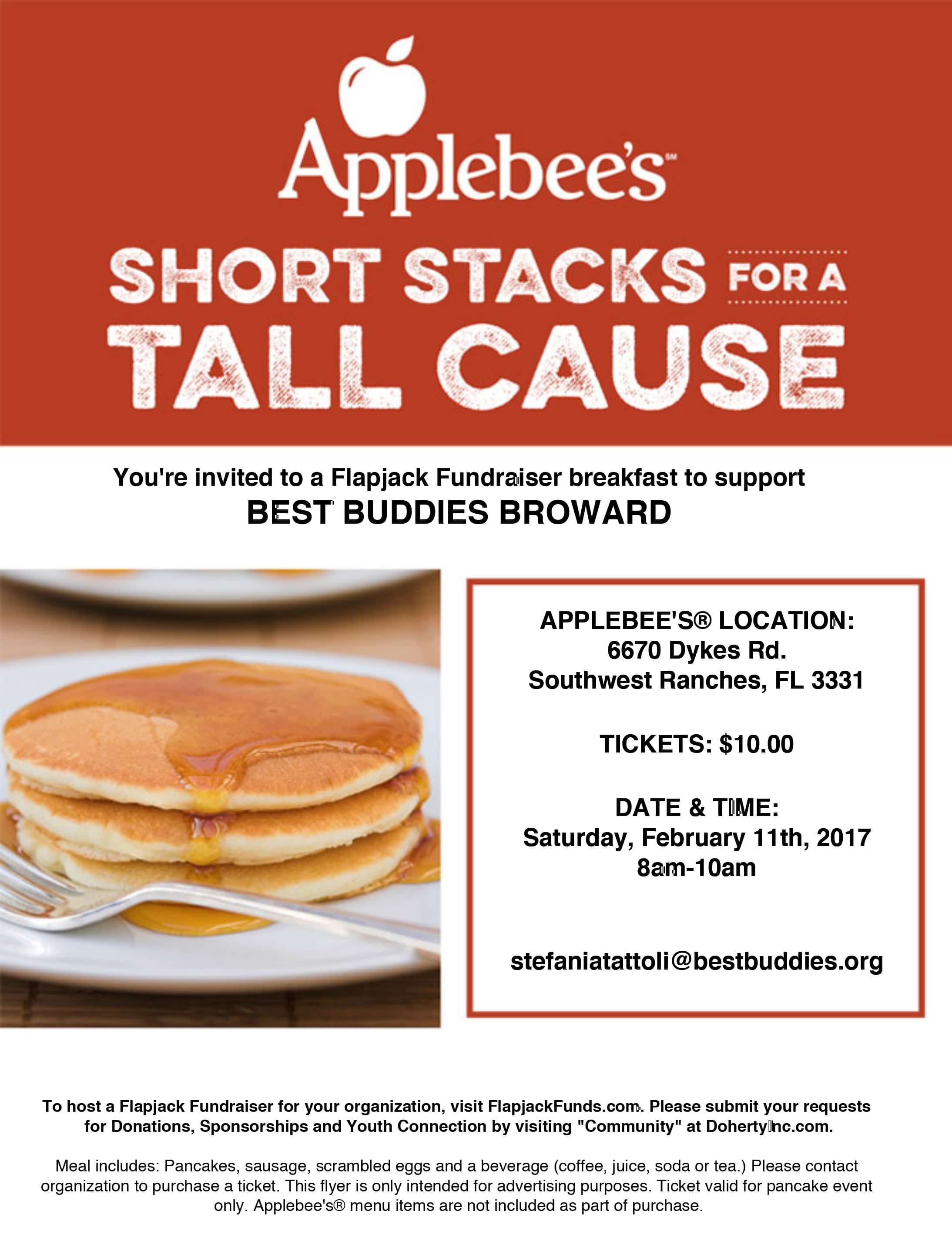 Pancake Breakfast Fundraiser Flyer