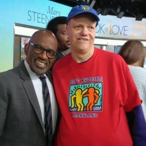 Best Buddies Participant Michael Taylor Visits his Idol Al Roker at The Today Show