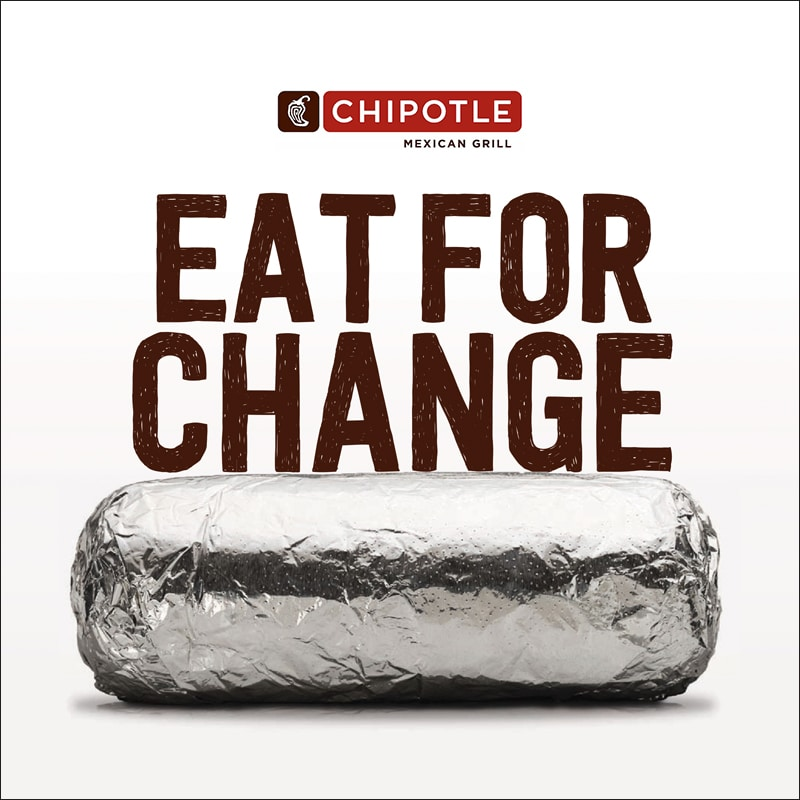 Chipotle Logo eat for change with chipotle - best buddies international