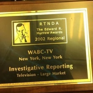 The Edward R. Murrow award that was given to Zach