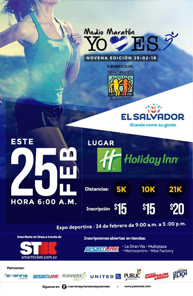 Best Buddies El-Salvador Marathon Flyer