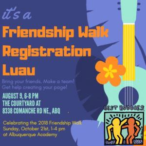 friendship walk registration