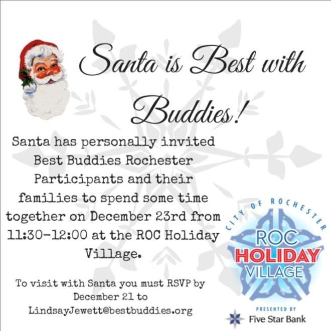Best Buddies Visit Santa