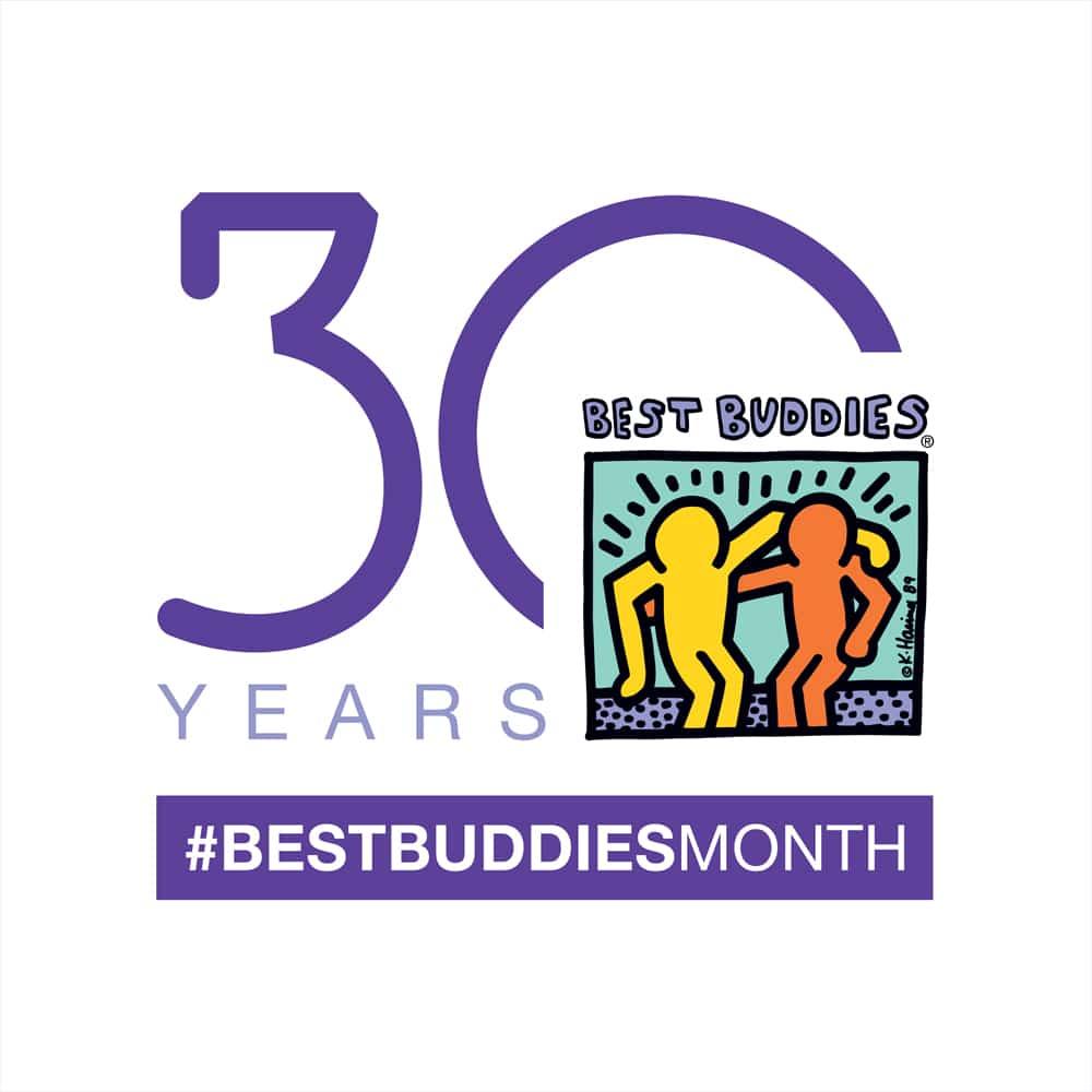 30th Anniversary Best Buddies Month Logo