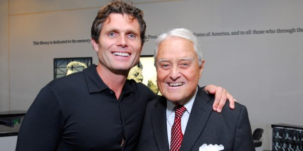 Anthony K. Shriver with his father Sarge Shriver