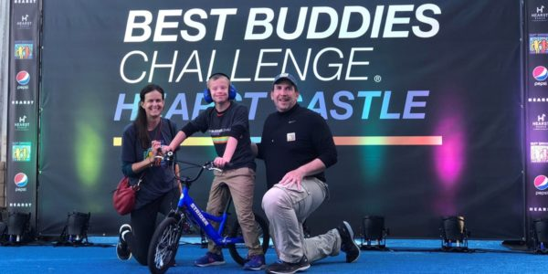 Laura, Vincenzo and James Stankard at the Best Buddies Challenge: Hearst Castle