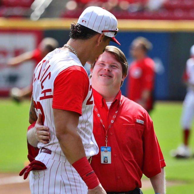 Cincinnati Reds Star, Derek Dietrich, Makes a New Friend Through Best Buddies