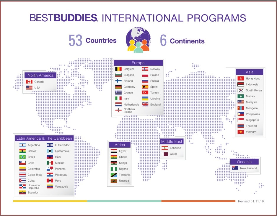 Best Buddies International Global Map