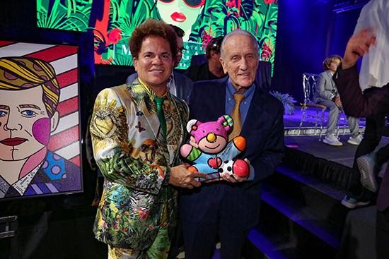 Romero Britto and Ed Ansin