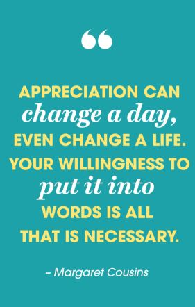 Appreciation Quote by Margaret Cousins