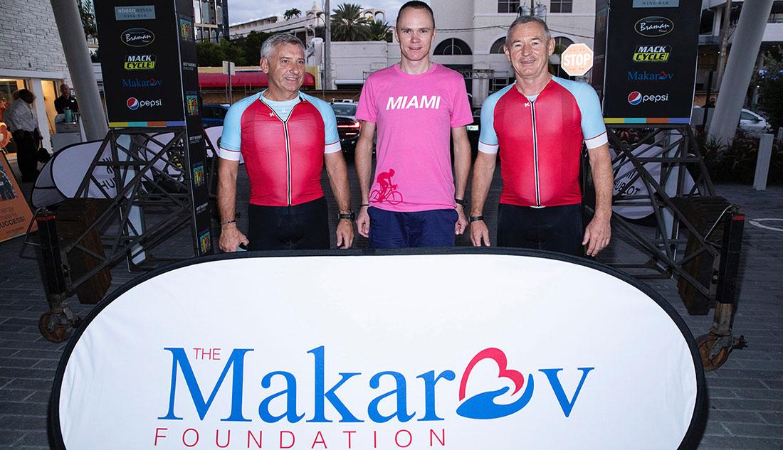 Igor Makarov and Chris Froome
