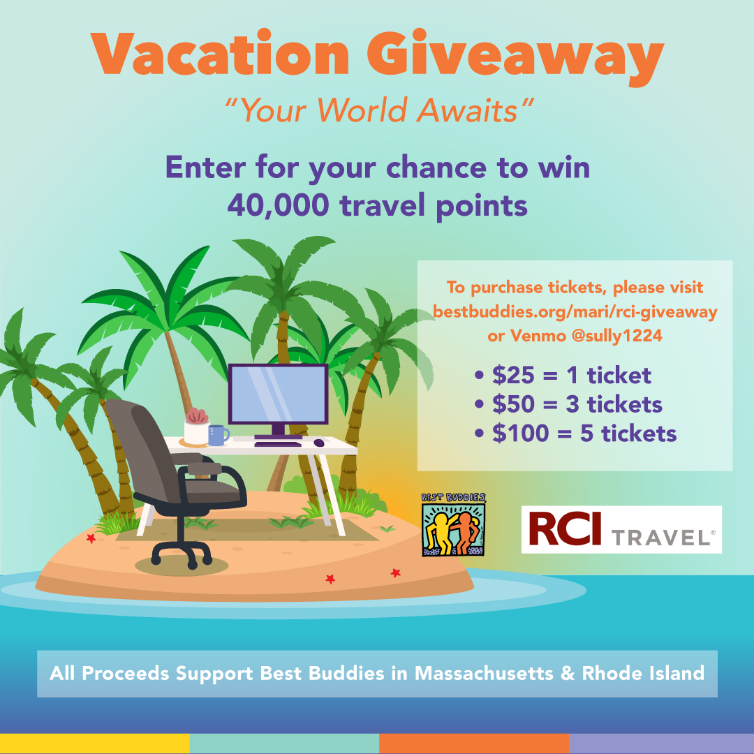 Best Buddies in MA & RI RCI Timeshare Giveaway Promotional Image