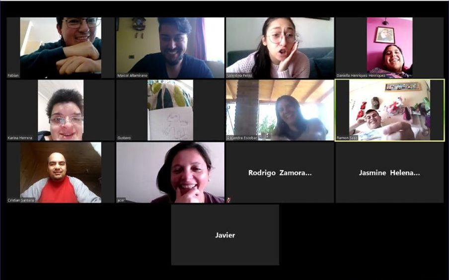 Zoom meeting screengrab