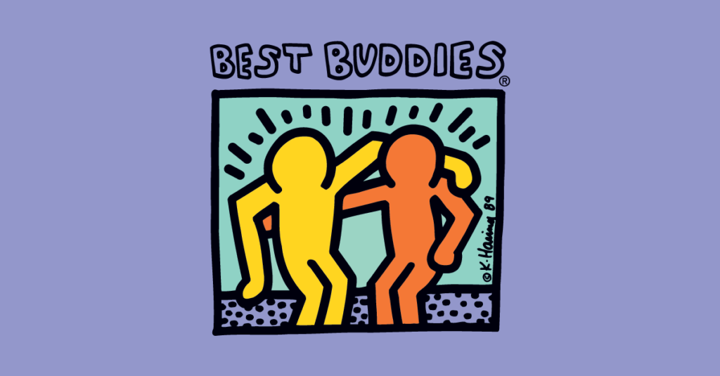 Best Buddies Logo on purple background