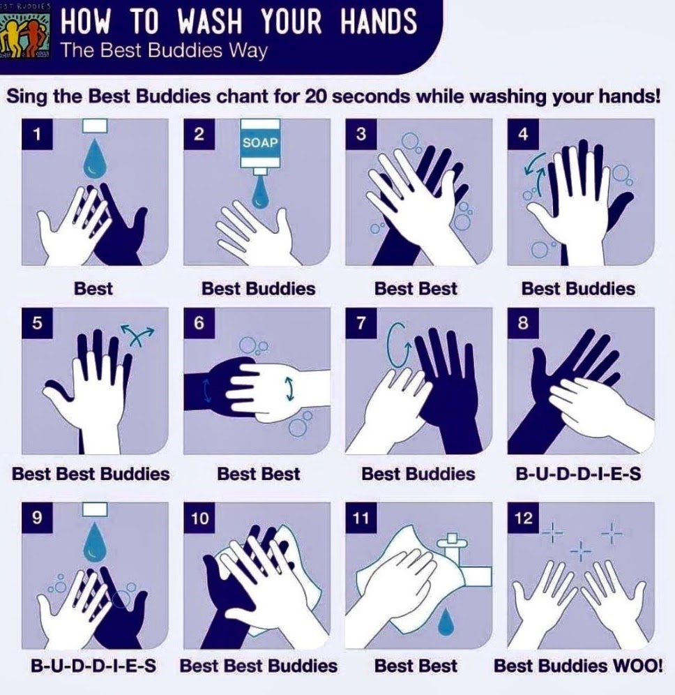 How to wash your hands, the Best Buddies Way