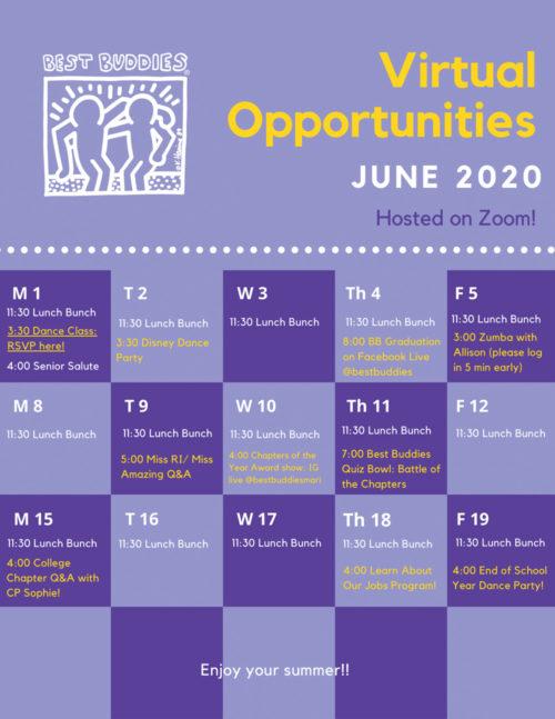 BBMARI June Calendar