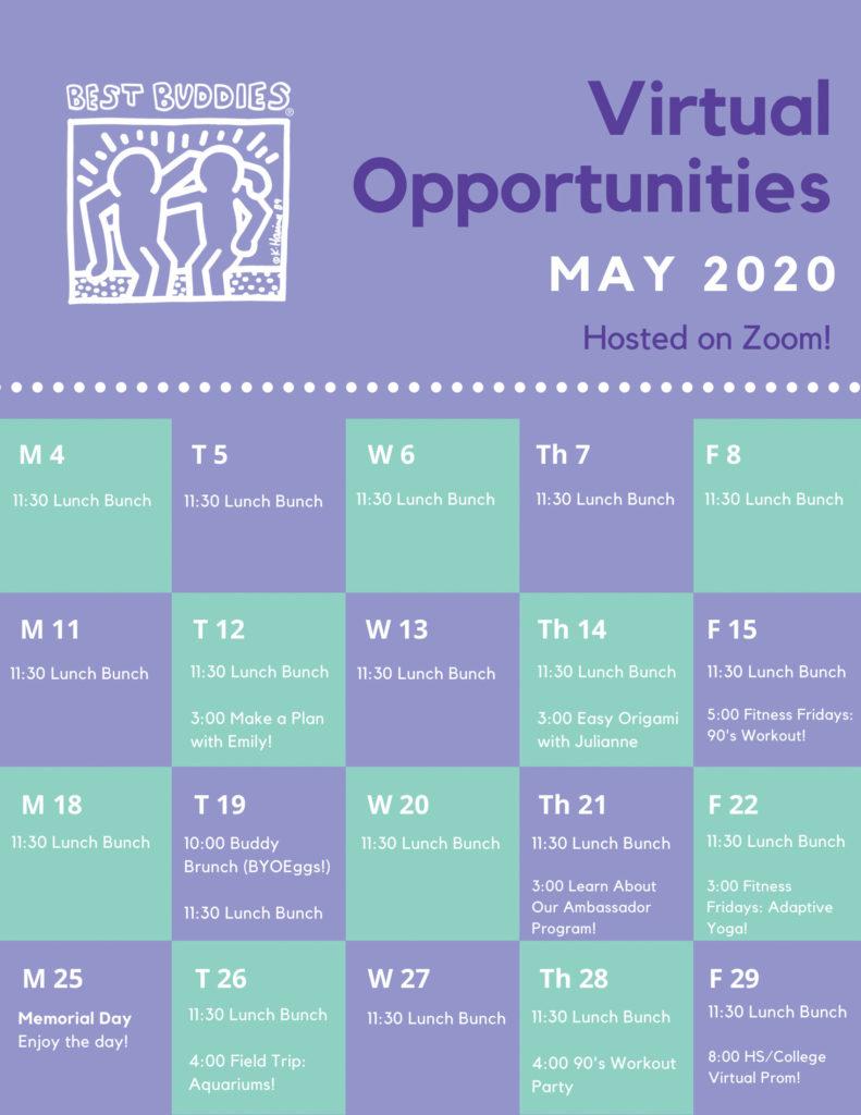 MA/RI May Virtual Calendar