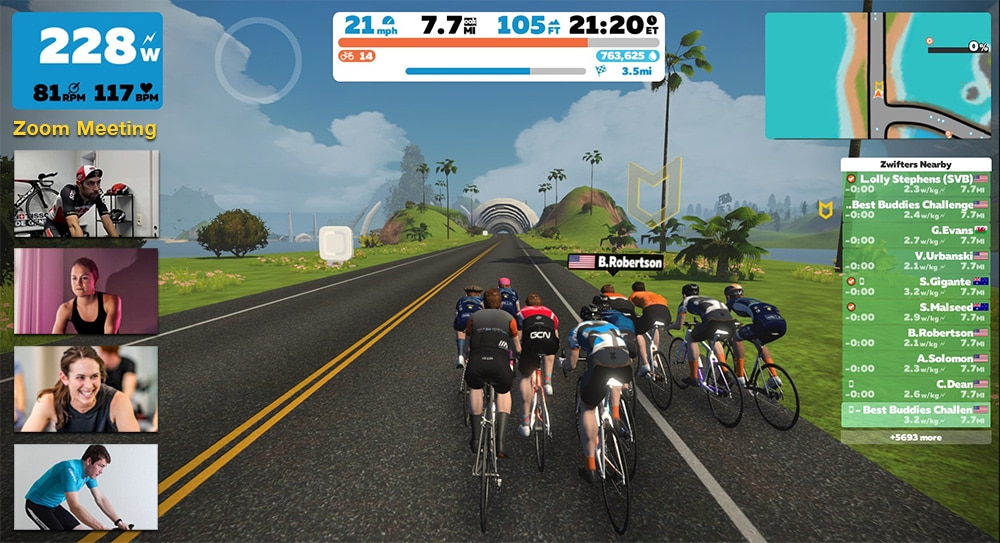Virtual Training Rides for the Best Buddies Challenge