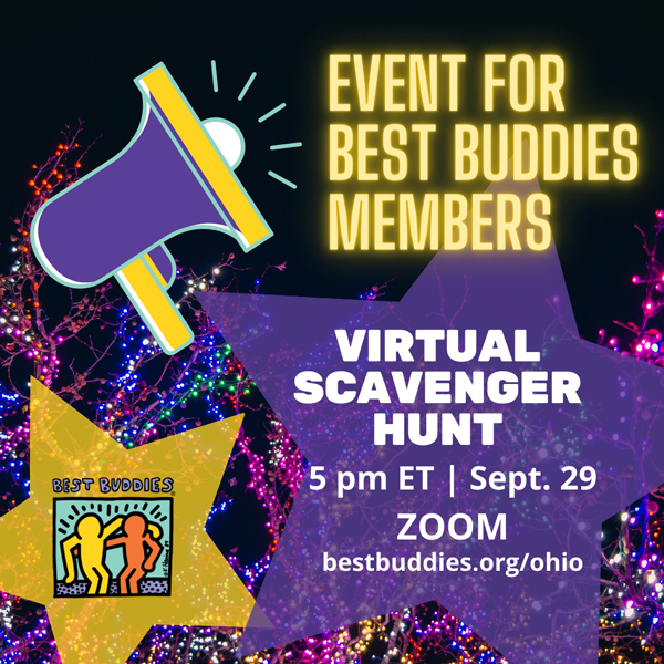 Best Buddies in Ohio Virtual Scavenger Hunt event flyer