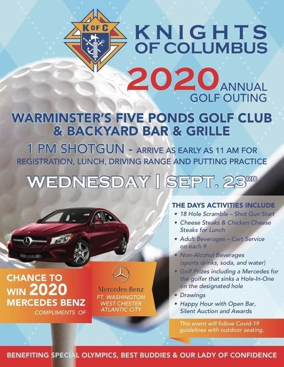 The Knights Of Columbus 2020 Annual Golf Outing Flyer