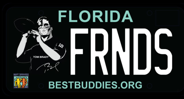 Best Buddies Tom Brady Specialty License Plate