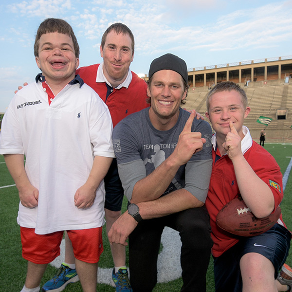 Tom Brady with Best Buddies participants