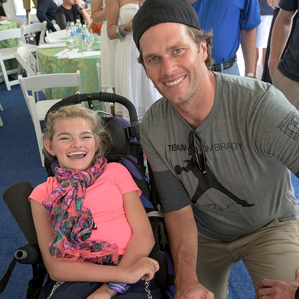 Tom Brady with Best Buddies participant, Emily