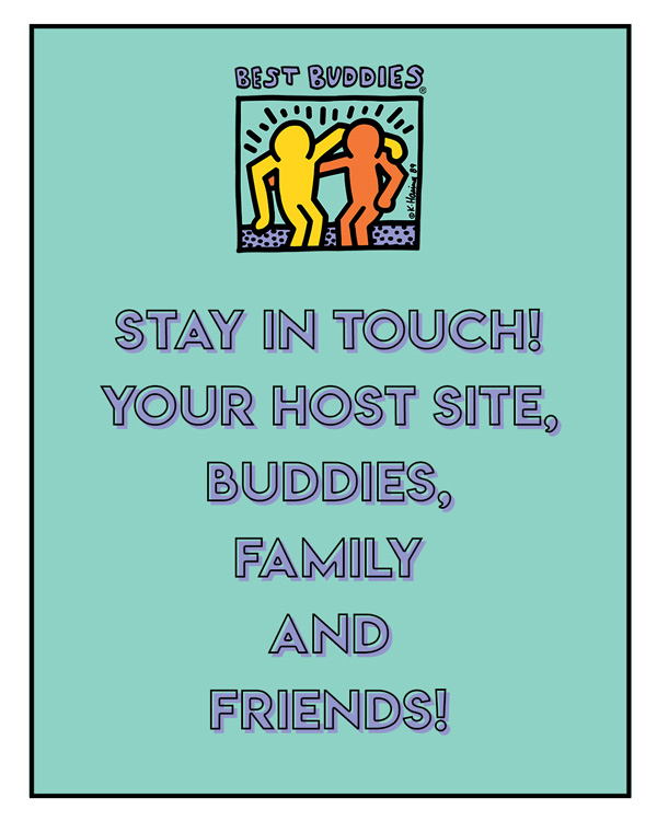 """stay in touch! Your host site, buddies, family and friends"""