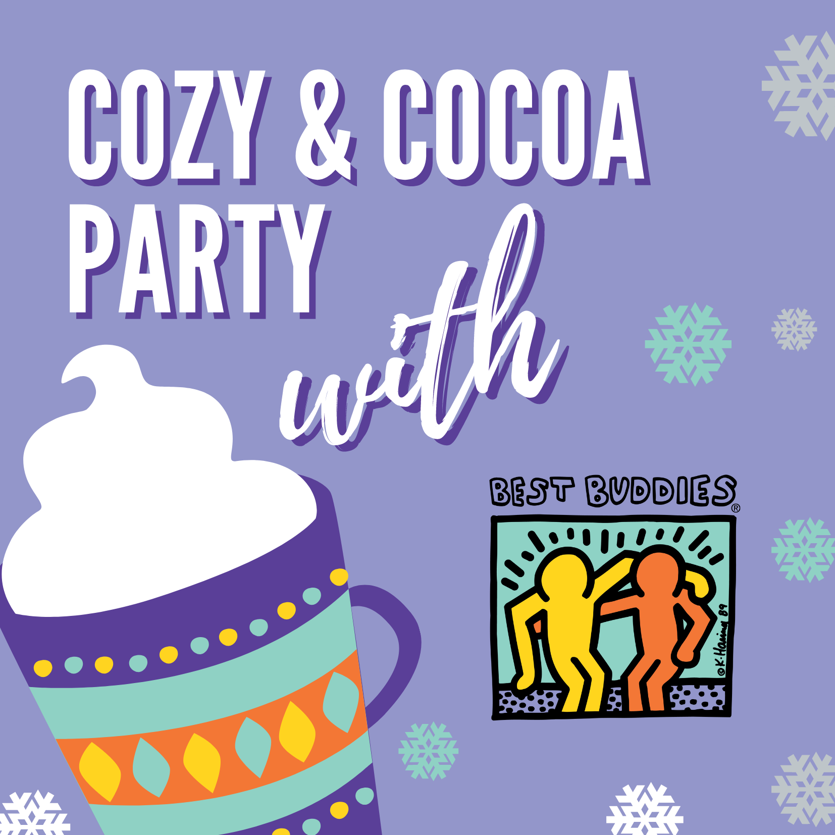 Best Buddies in Ohio Cozy & Cocoa Party Image Banner
