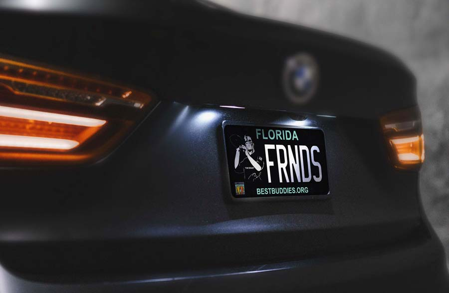 Car with Best Buddies license plate