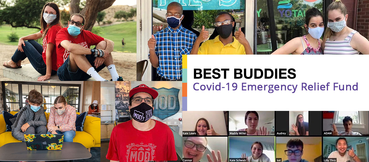 Collage of Best Buddies participants in Masks
