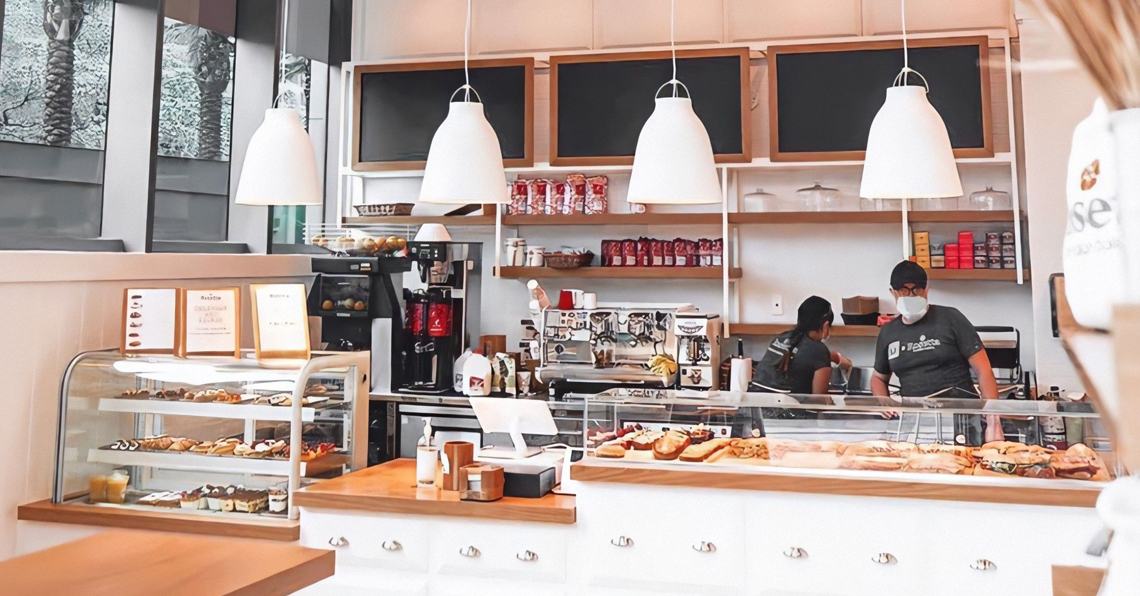 The Rosetta bakey located in Brickell, Miami. The bakery features two female workers.