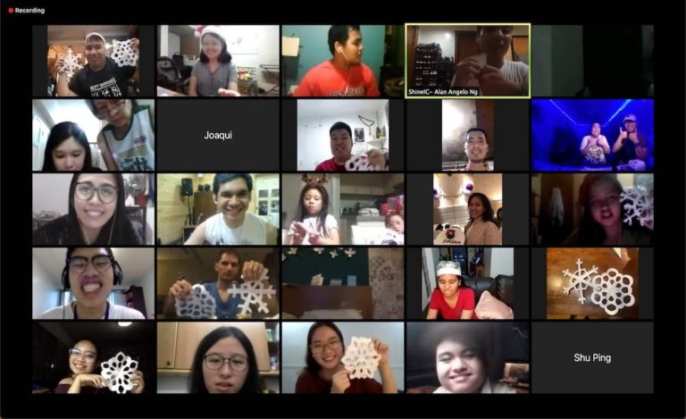 Best Buddies Philippines with 25 participants in a Zoom video chat meeting