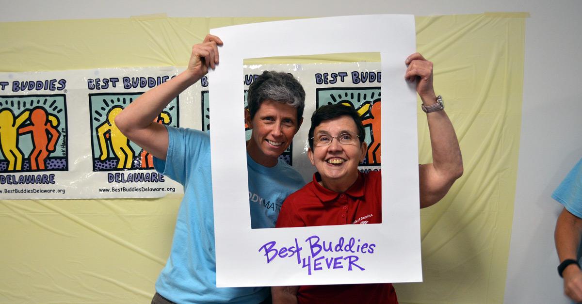 Best Buddies in Delaware buddy pairs MaryAnn and Jennifer