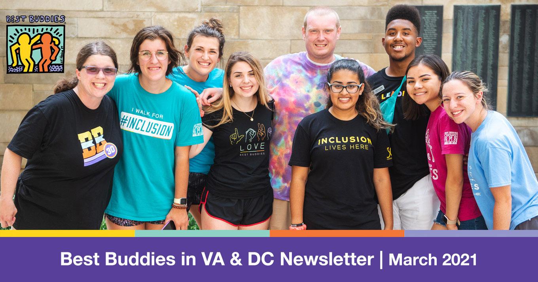 Best Buddies in Virginia & DC Newsletter March 2021 Letterhead